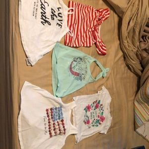 Lot of 5 18-24 month old navy shirts